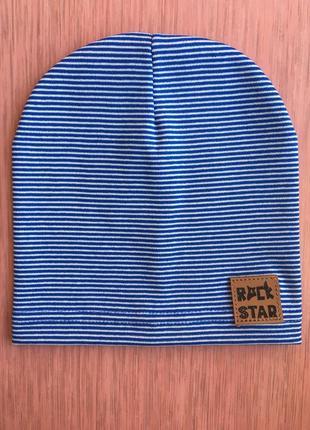 Тонкая трикотажная шапка для мальчика от 1 года до 3 46/50