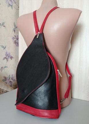 Городской кожаный рюкзак borse in pelle италия натуральная кожа