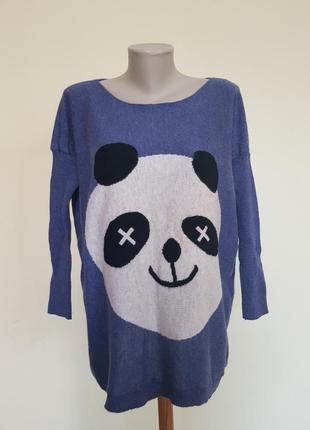 Стильная кофточка свитер с пандой
