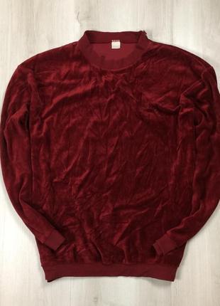 F8 свитшот вельветовый толстовка худи кофта красная