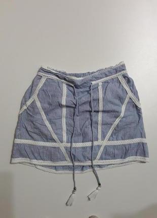 Фирменная легкая хлопковая юбка1 фото