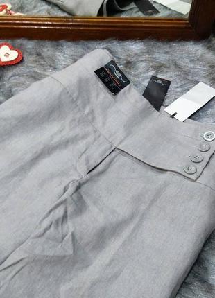 #розвантажуюсь брюки палаццо с высокой посадкой из льна new look2 фото