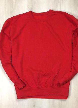 F8 свитшот красный оранжевый яркий кофта толстовка худи