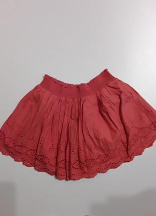 Фирменная легкая хлопковая юбка 12-13 лет