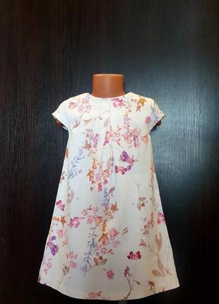 Платье с рисунком next,летнее платье 5-6л