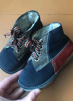 Ботинки 14 см ботиночки демисезонные натуральная кожа(замш). перешлю!