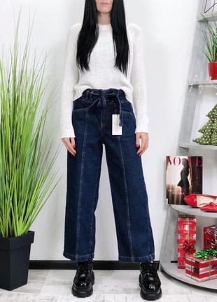 Очень крутые джинсы balloon с завязывающимся поясом bershka. модный крой.