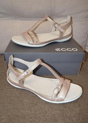 Кожаные босоножки сандалии гладиаторы ecco flash 12us 43 размер 28 см
