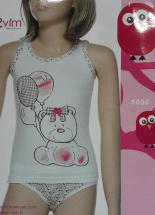 Комплект нижнего белья для девочки мишка (sevim, турция)