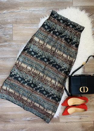 Стильная винтажная юбка миди