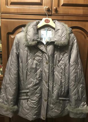 Элегантная демисезонная фирменная куртка р 54