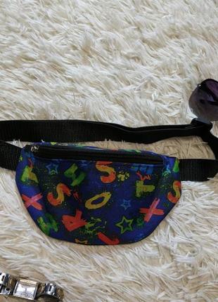Молодежная сумка бананка, поясная сумка
