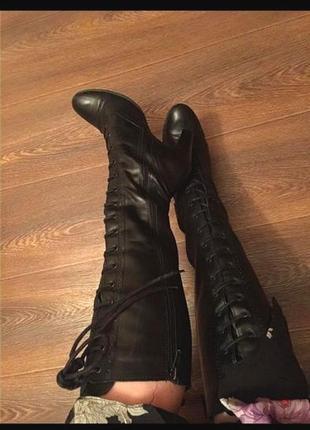 Сапоги/ ботфорты кожа ботинки