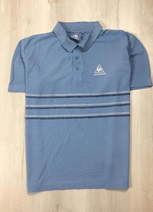 Z8 футболка поло шведка тенниска le coq sportif ле кок спортив синяя