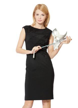 Повседневное и нарядное черное платье карандаш футляр майка лиоцелл лодочка м, наш 44
