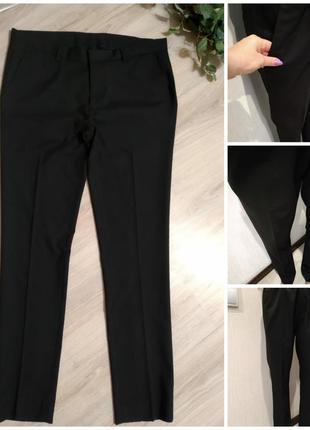 Отличные черные длинные базовые узкие брюки штаны