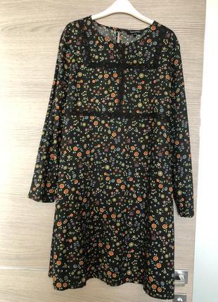 Стильное платье из вискозы