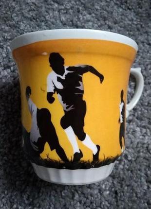 Новая чашка футбольная подарок 500 мл большая мяч футболисты парню