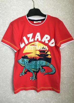 Крутая, яркая, фирменная футболка на мальчика 7-8 лет