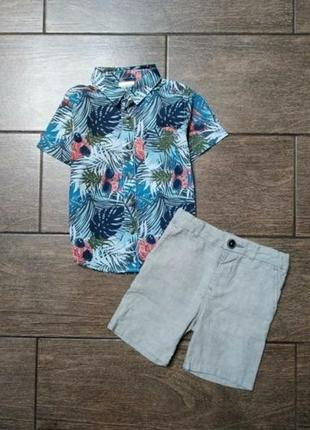 Комплект # рубашка # шорты