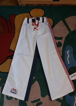Широкие  хлопковые штаны, 140см