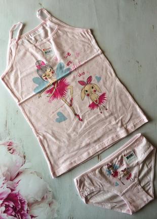 Комплект белья для девочки донелла, майка и трусики