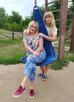 Яркая цветочная блуза 48-52р