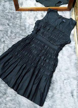 #розвантажуюсь платье с рюшами из коттона/хлопка french connection