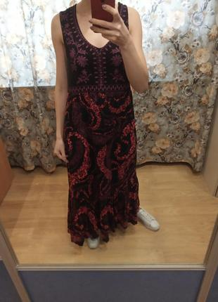Красивое платье макси  сарпфан большого размера. xxl.