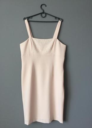 Нарядное платье расшито бисером 16---52 размер.