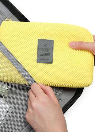 Новый классный клатч-органайзер дорожный для телефона, зарядки, наушников, косметики