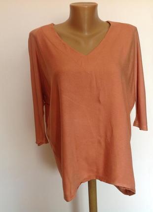 Комбинированная свободная блуза- реглан /s/ brend zara