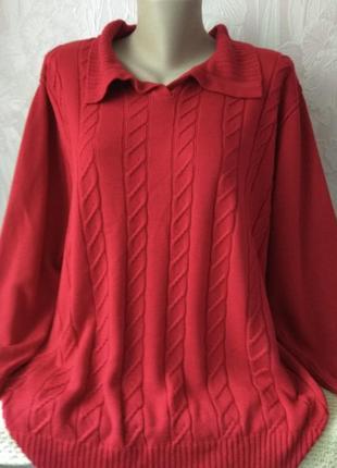Красный свитерок большого размера
