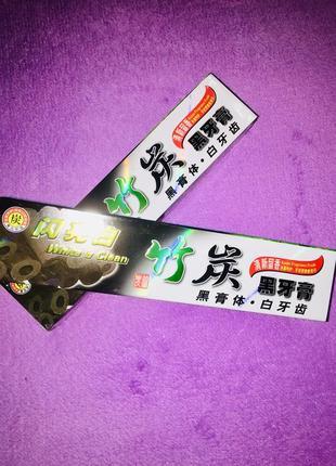 Паста зубная чёрная бамбуковая из китая