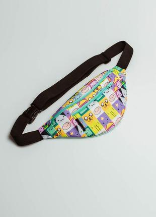 Яркая сумка бананка на пояс для подростков, с принтом