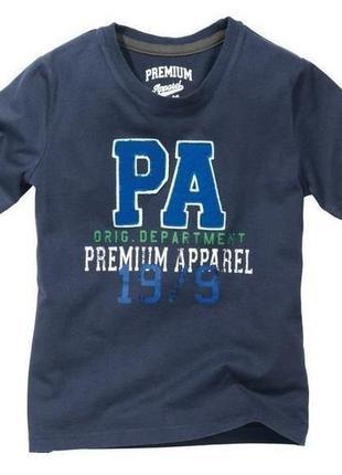 Стильная футболка 134-140, 8-10 лет pepperts германия темно синяя.