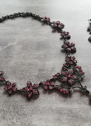 Ожерелье и серьги набор бижутерии