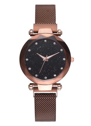 Женские наручные часы с коричневым ремешком код 474