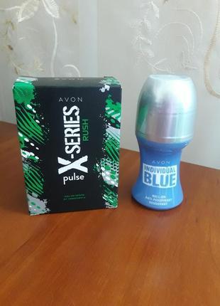 Туалетная вода x-series и дезодорант антиперспирант blue