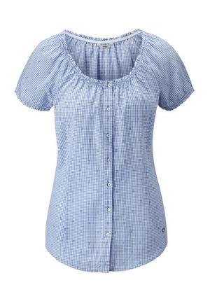 Летняя рубашка в клетку хлопок tcm tchibo