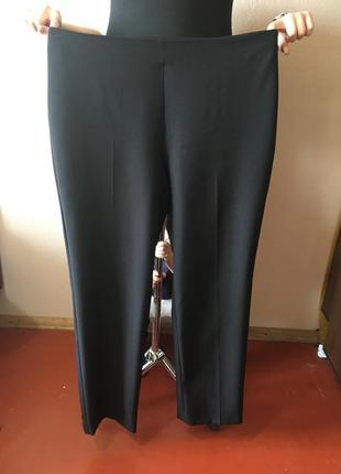 Чудесные идеальные легенькие женские классические весенние  брюки на высокой посадке р 16
