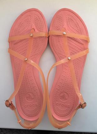 Босоножки crocs w10  40-41 размер оригинал сандалии крокс кроксы