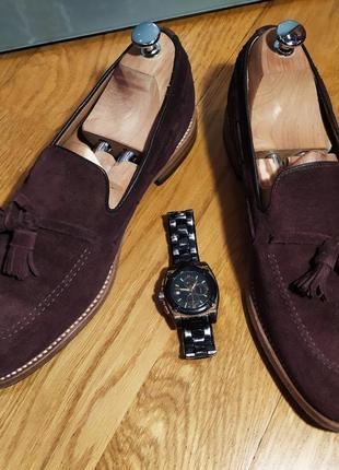 Лоферы от известной английской обувной фирмы loake, натуральная замша.1 фото