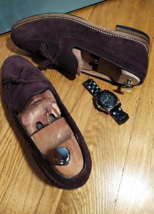 Лоферы от известной английской обувной фирмы loake, натуральная замша.2 фото