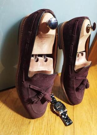 Лоферы от известной английской обувной фирмы loake, натуральная замша.3 фото
