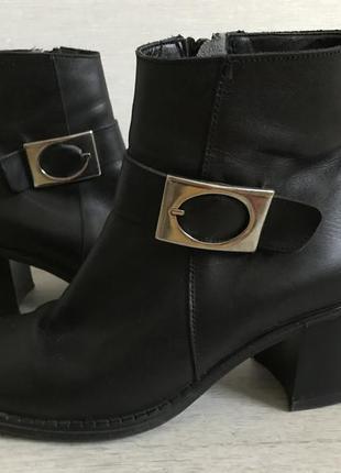 Винтажные ботинки с квадратным носком