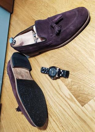 Лоферы от известной английской обувной фирмы loake, натуральная замша.5 фото