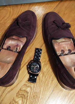 Лоферы от известной английской обувной фирмы loake, натуральная замша.4 фото