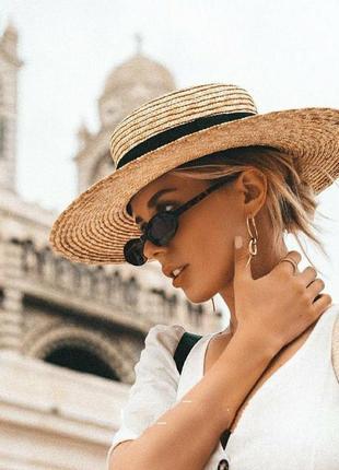 Стильний капелюх канот'є • соломенная шляпа канотье с широкими полями