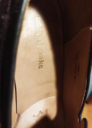 Лоферы от известной английской обувной фирмы loake, натуральная замша.6 фото